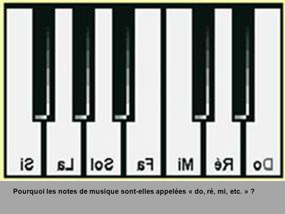 Pourquoi les notes de musique sont-elles appelées « do, ré, mi, etc. » ?