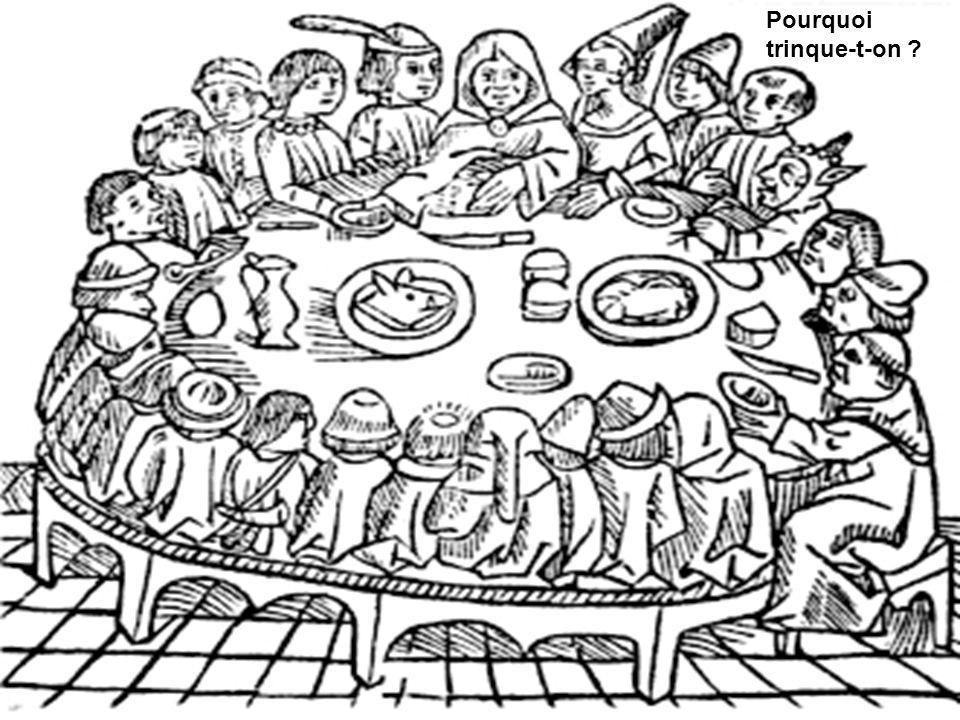 La coutume de trinquer vient du Moyen Âge.