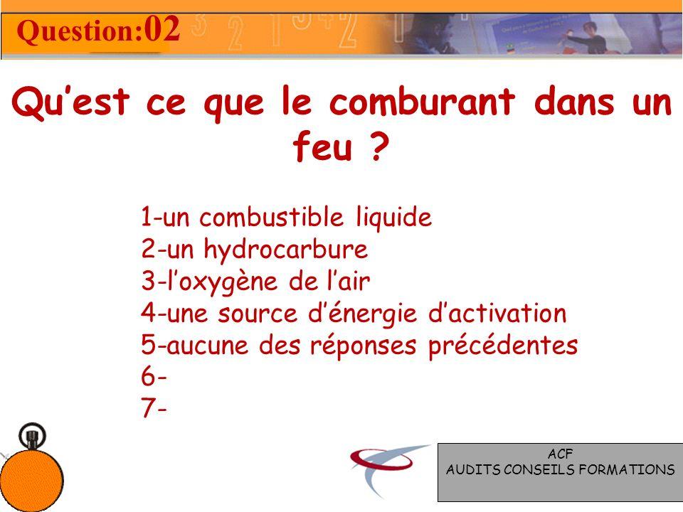 Quels sont les éléments qui constituent le triangle du feu ? 1-combustible, carburant, énergie dactivation 2-incombustible, comburant, énergie dactiva