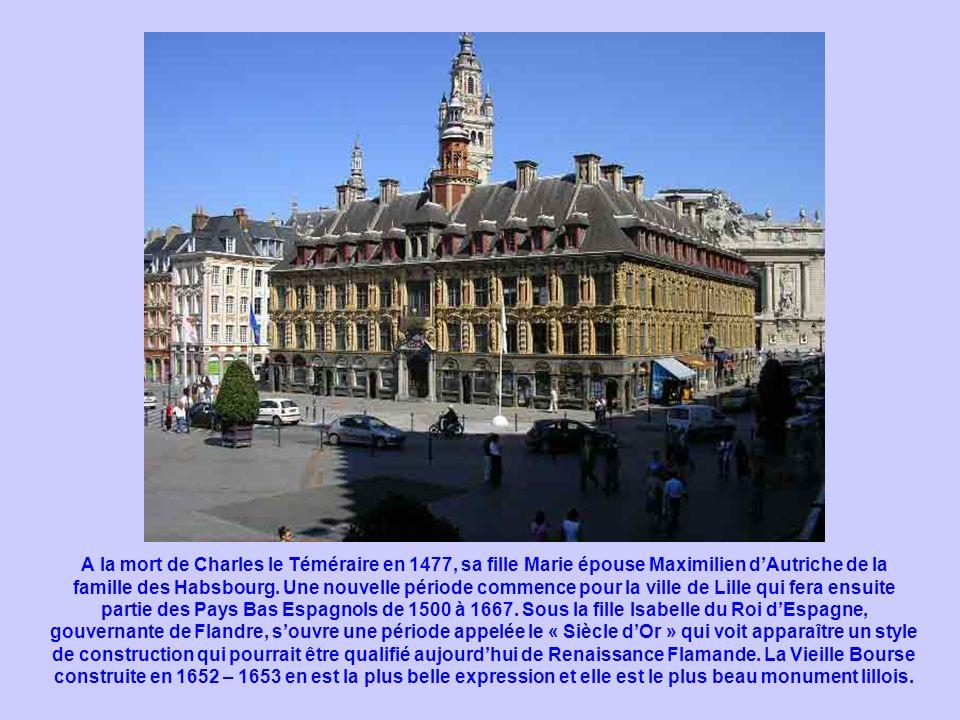 A la mort de Charles le Téméraire en 1477, sa fille Marie épouse Maximilien dAutriche de la famille des Habsbourg. Une nouvelle période commence pour