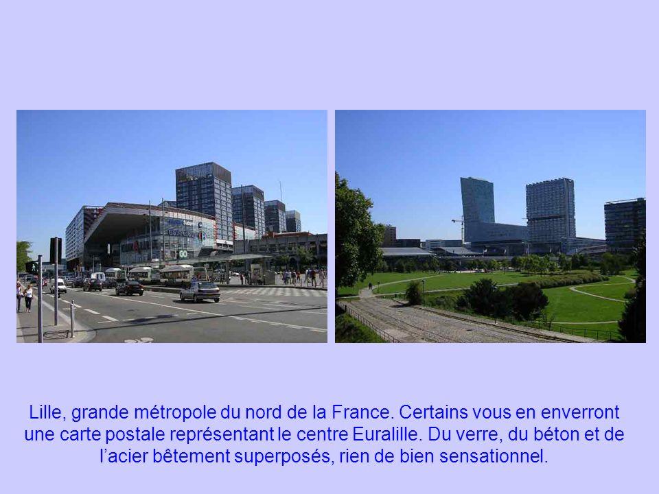 Aujourdhui, avec un peu plus de 200.000 habitants, Lille se classe comme dixième ville française et quatrième métropole totalisant un peu plus dun million et demi dhabitants dont cinq cent mille le long de la frontière belge par les villes de Roubaix, Tourcoing et leurs banlieues.