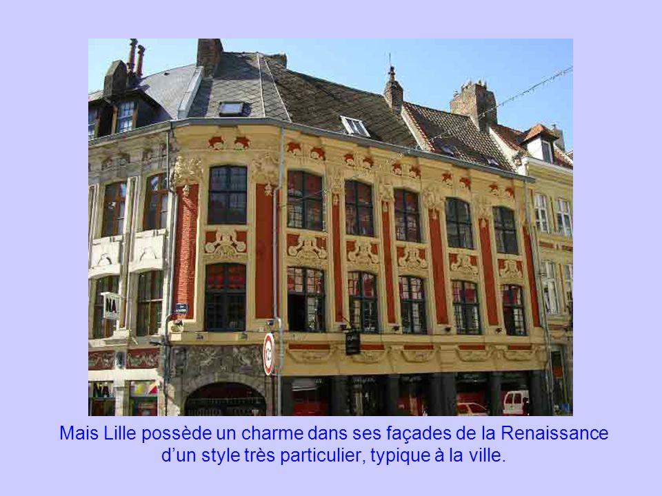 Mais Lille possède un charme dans ses façades de la Renaissance dun style très particulier, typique à la ville.