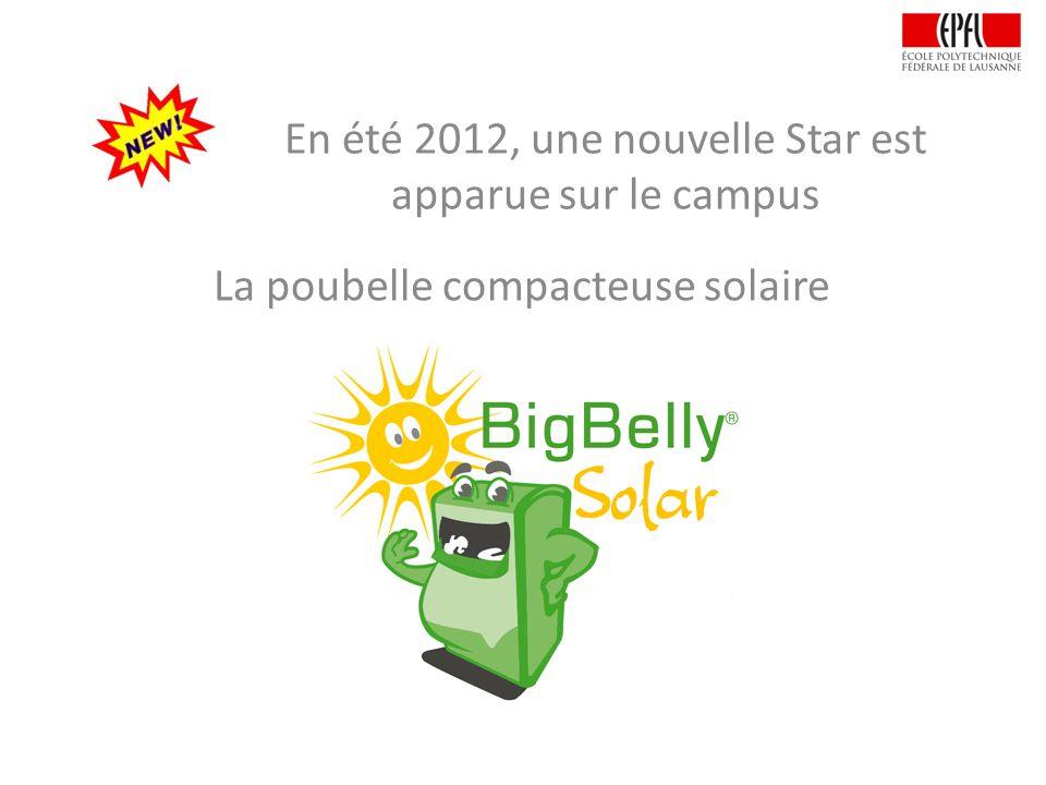 En été 2012, une nouvelle Star est apparue sur le campus La poubelle compacteuse solaire