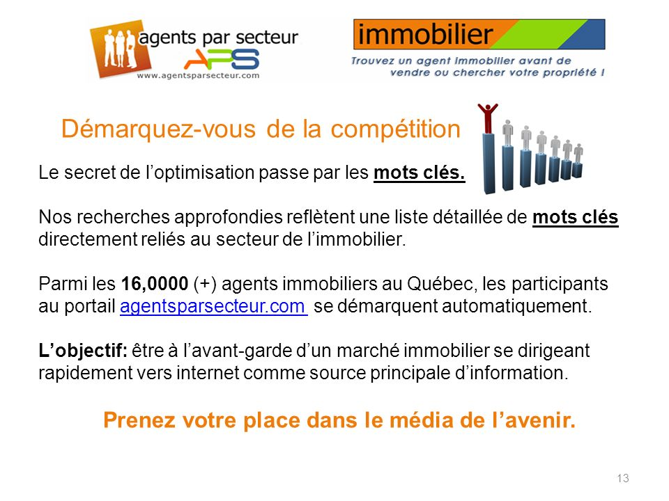 www.agentsparsecteur.com www.agentsparsecteur.com sengage à… Générer un nombre garanti de clics bien ciblés vers votre site ou votre présence internet