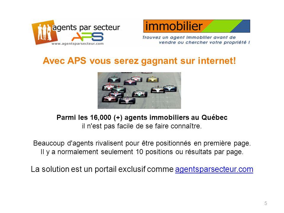 Avec APS vous serez gagnant sur internet.