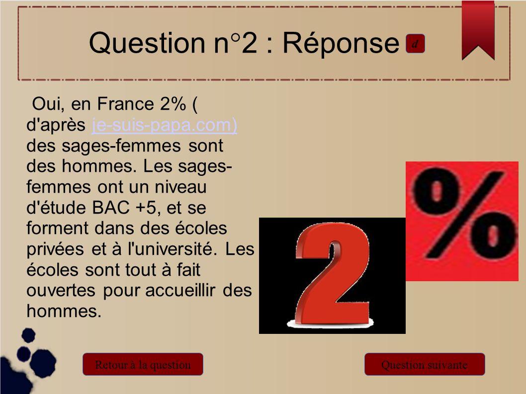 Oui, en France 2% ( d'après je-suis-papa.com) des sages-femmes sont des hommes. Les sages- femmes ont un niveau d'étude BAC +5, et se forment dans des