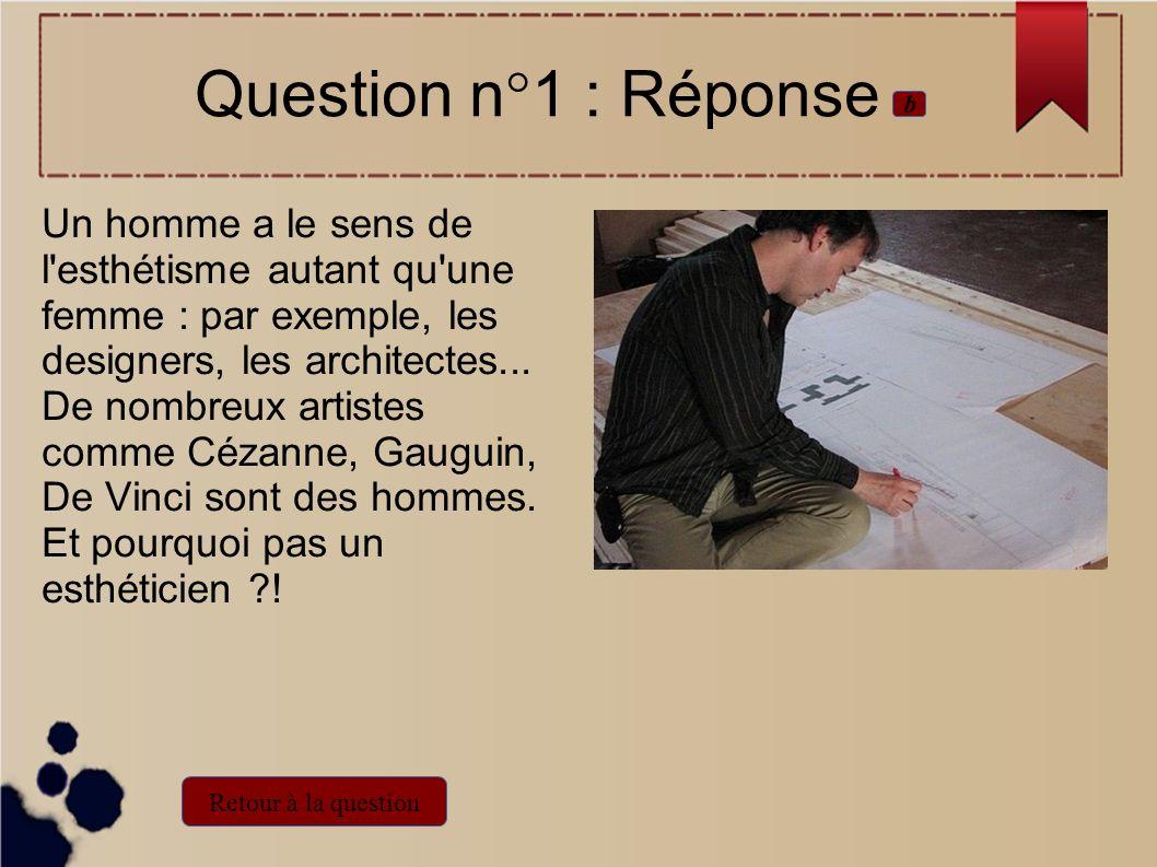 Un homme a le sens de l'esthétisme autant qu'une femme : par exemple, les designers, les architectes... De nombreux artistes comme Cézanne, Gauguin, D