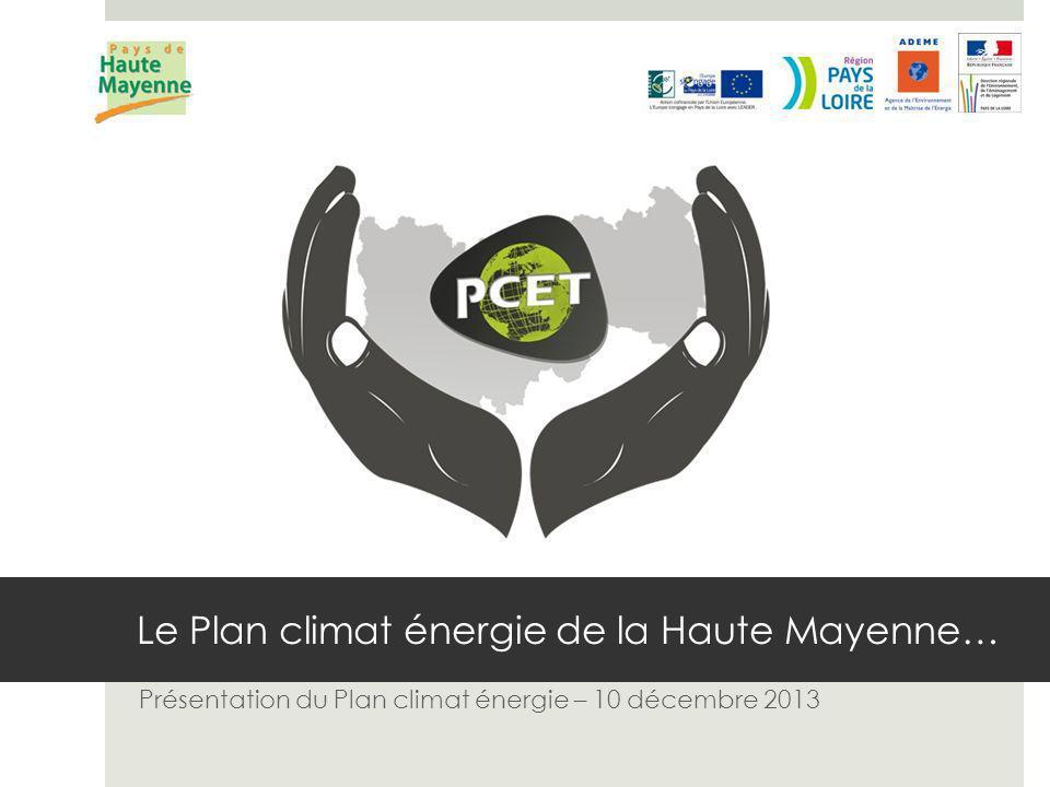 Le Plan climat énergie de la Haute Mayenne… Présentation du Plan climat énergie – 10 décembre 2013