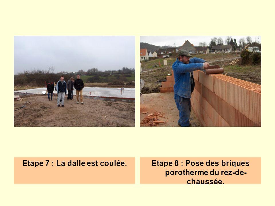 Etape 9 : Élévation des parpaings du rez-de- chaussée.