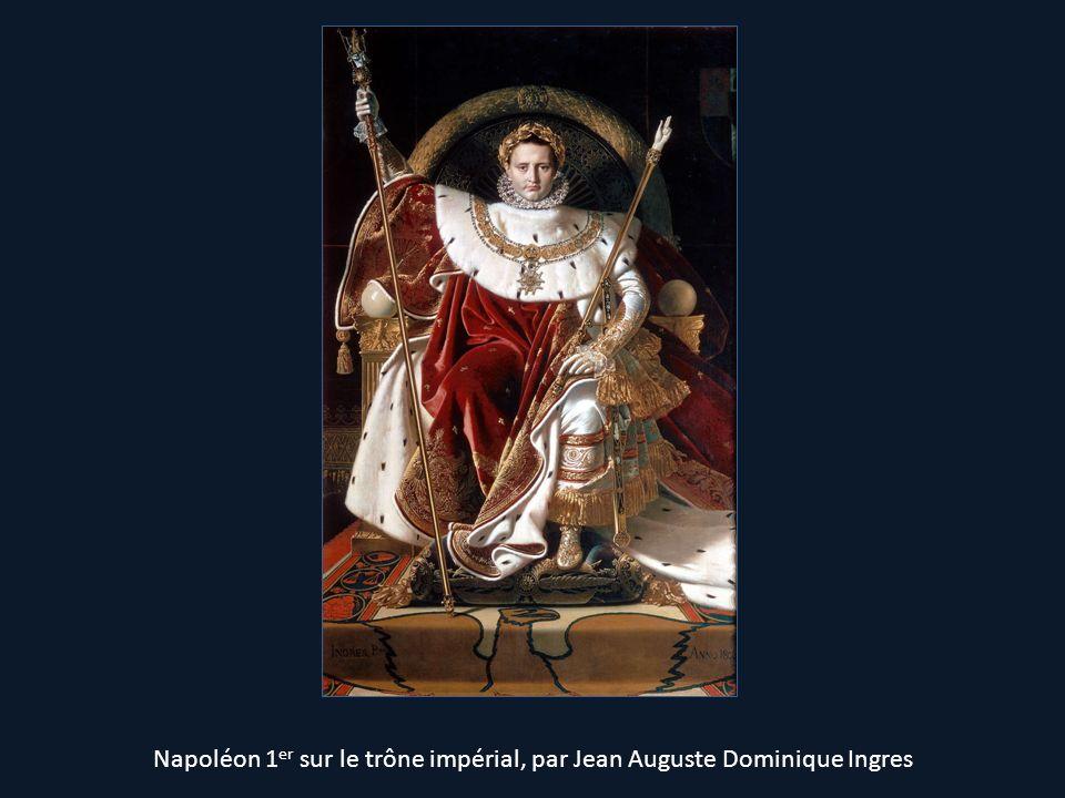 Napoléon 1 er sur le trône impérial, par Jean Auguste Dominique Ingres
