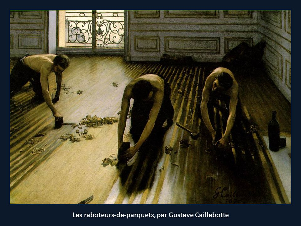 Les raboteurs-de-parquets, par Gustave Caillebotte
