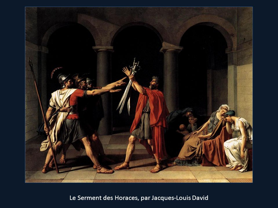Le Serment des Horaces, par Jacques-Louis David