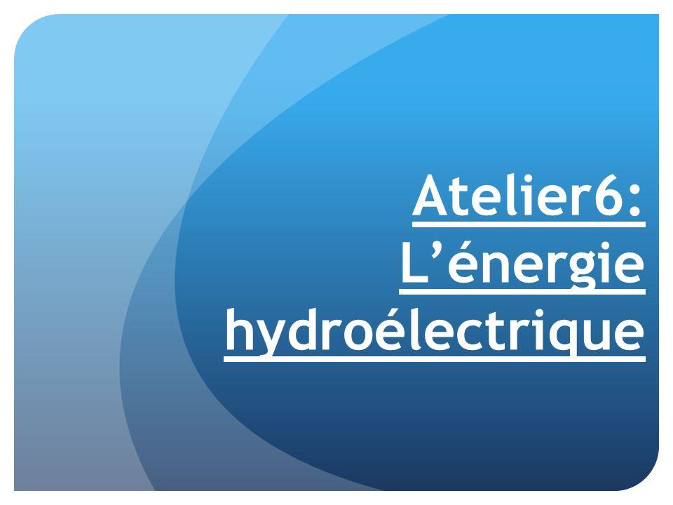 Atelier6: Lénergie hydroélectrique