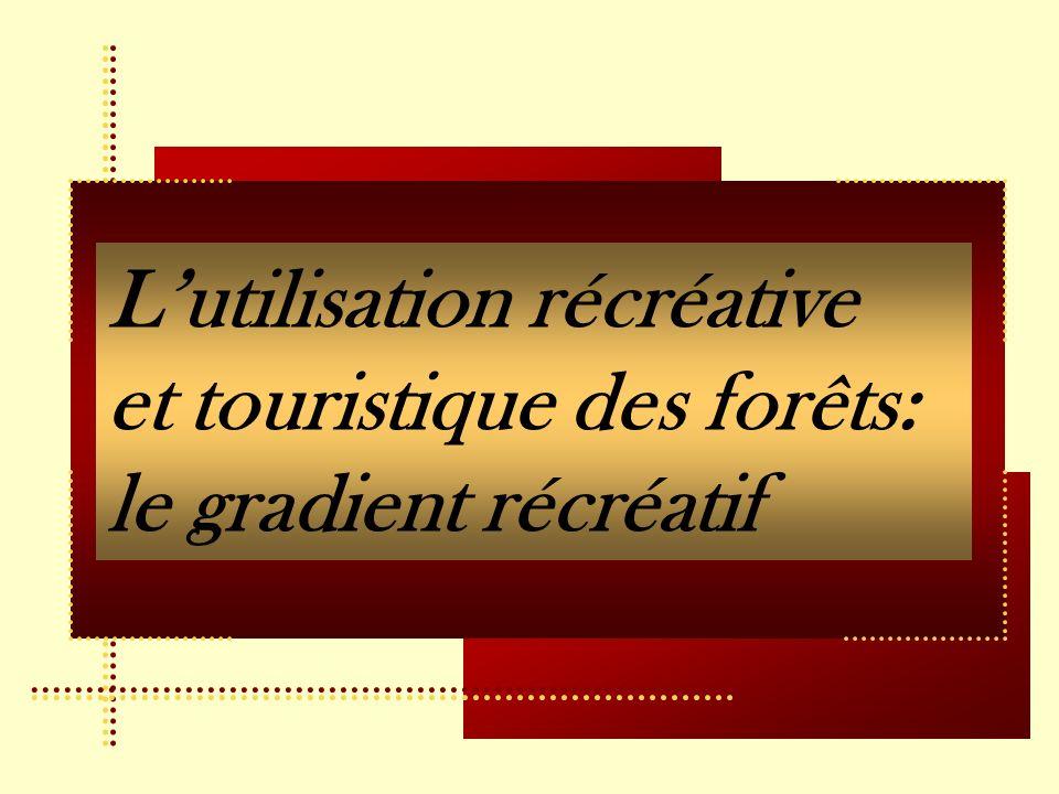 Lutilisation récréative et touristique des forêts: le gradient récréatif