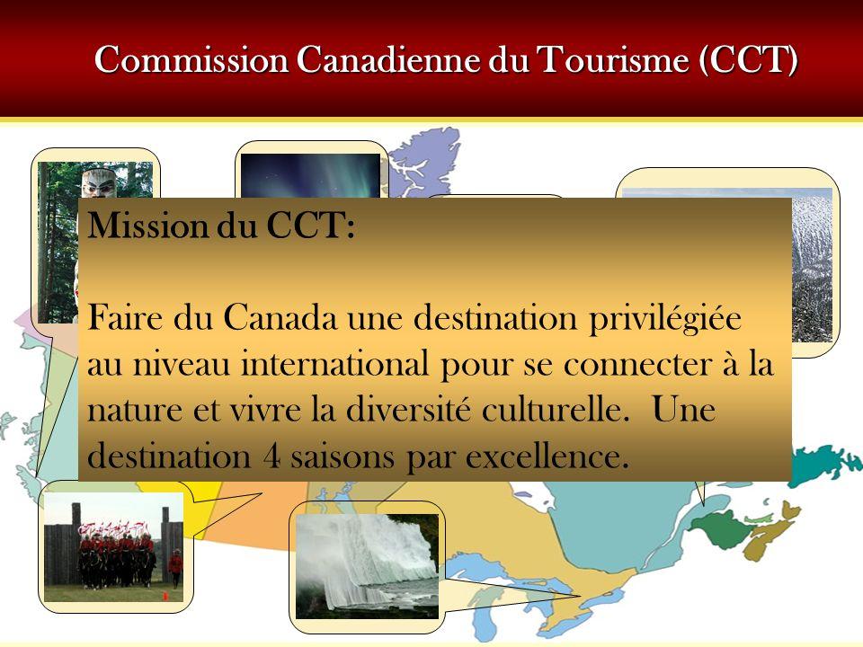 Mission du CCT: Faire du Canada une destination privilégiée au niveau international pour se connecter à la nature et vivre la diversité culturelle. Un