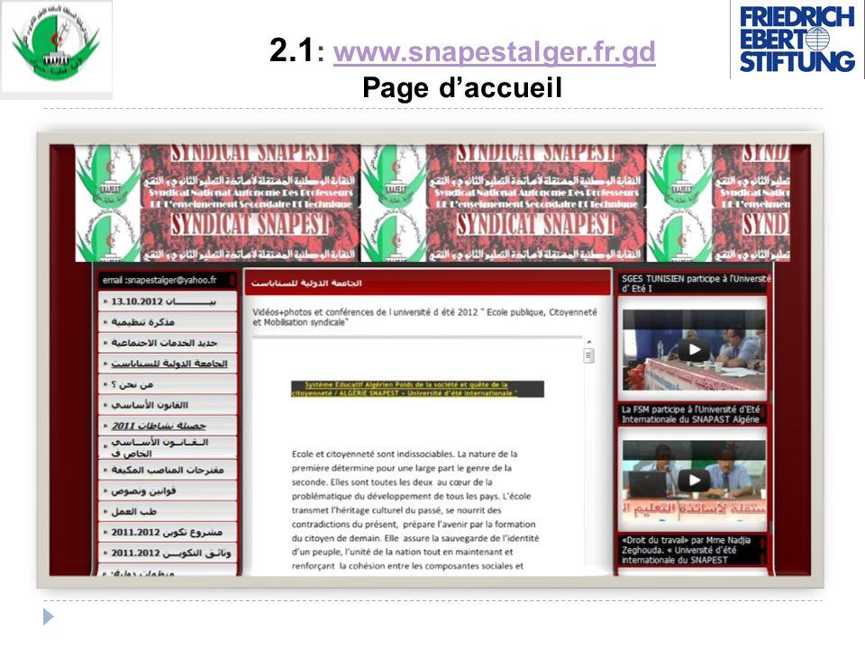 2.1 : www.snapestalger.fr.gd Page daccueilwww.snapestalger.fr.gd