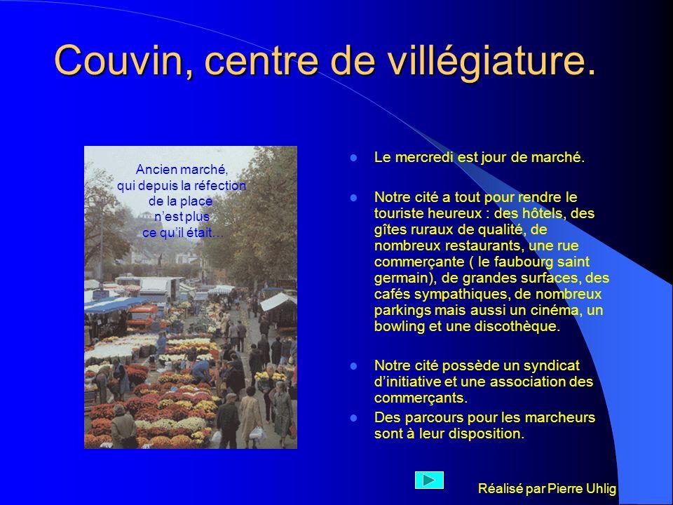 Réalisé par Pierre Uhlig Couvin, centre denseignement Lécole de promotion sociale communale mieux connue sous le label de « cours du soir de la ville de Couvin » est installée dans les locaux de lancienne école normale de Couvin.