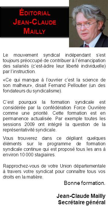 Le mouvement syndical indépendant sest toujours préoccupé de contribuer à lémancipation des salariés (cest-àdire leur liberté individuelle) par linst