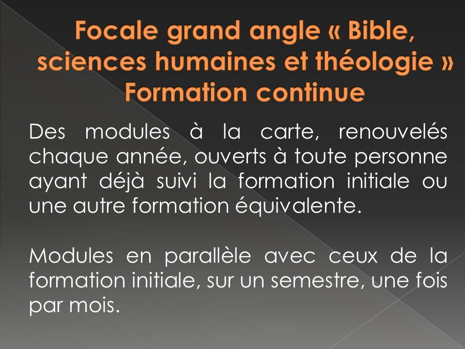 Les personnes envoyées en formation à la FOCALE par un service diocésain ou une paroisse sont tenues de suivre les cours avec assiduité.