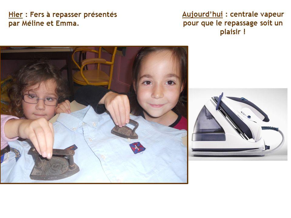 Hier : Fers à repasser présentés par Méline et Emma. Aujourdhui : centrale vapeur pour que le repassage soit un plaisir !