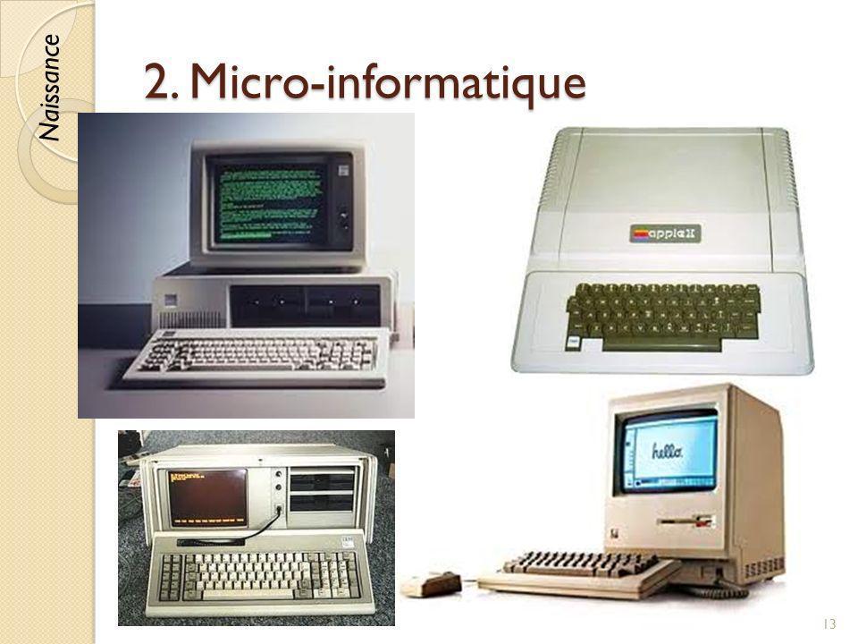 2. Micro-informatique © Lyne Da Sylva, 201213 Naissance