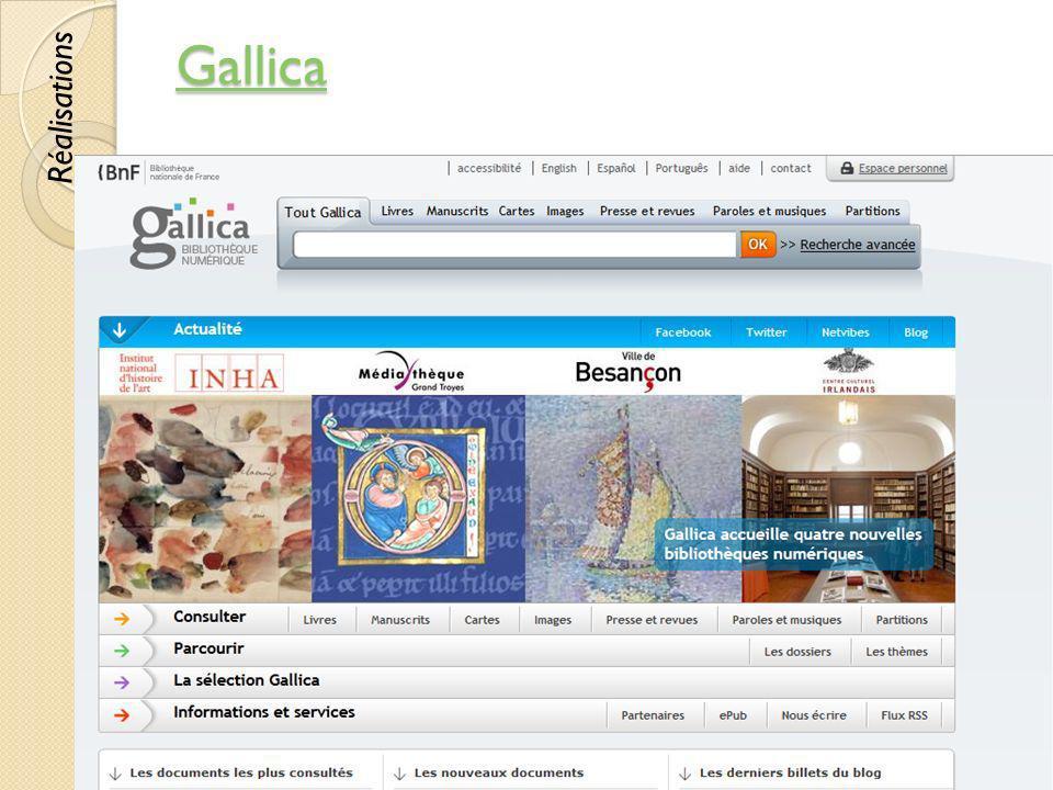 Gallica © Lyne Da Sylva, 201233 Réalisations