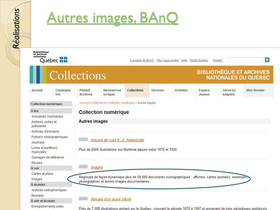 Autres images, BAnQ Autres images, BAnQ © Lyne Da Sylva, 201254 Réalisations