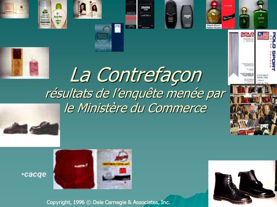 Karim KRID : Annaba 2005 12 Lenquête proprement dite: Concerne principalement les produits d importation sans négliger la contrefaçon des produits fabriqués localement.