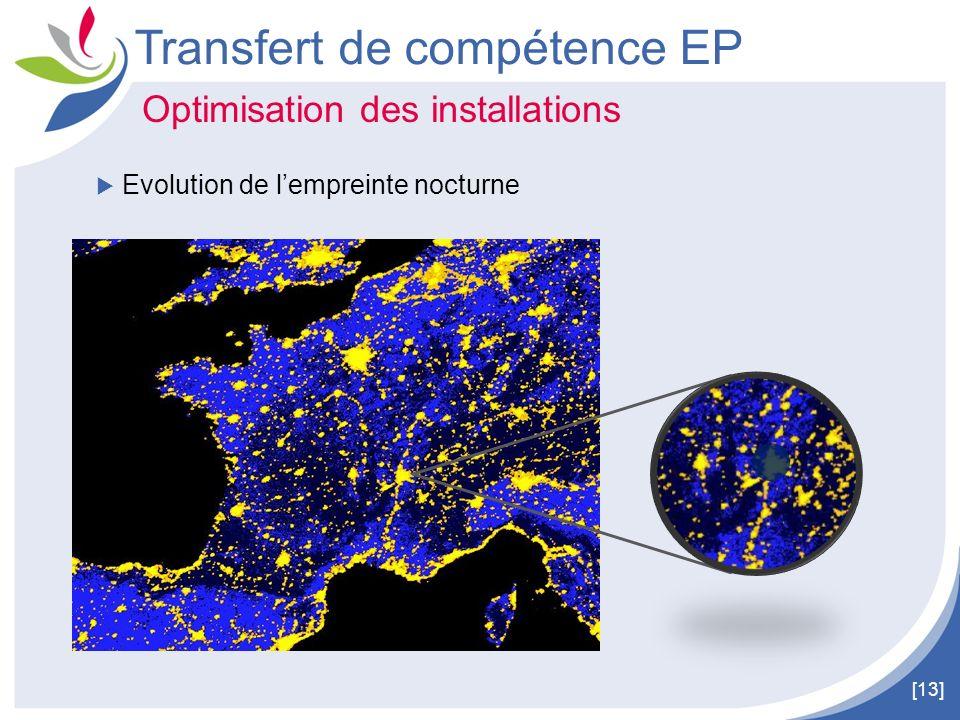 [13] Transfert de compétence EP Optimisation des installations Evolution de lempreinte nocturne