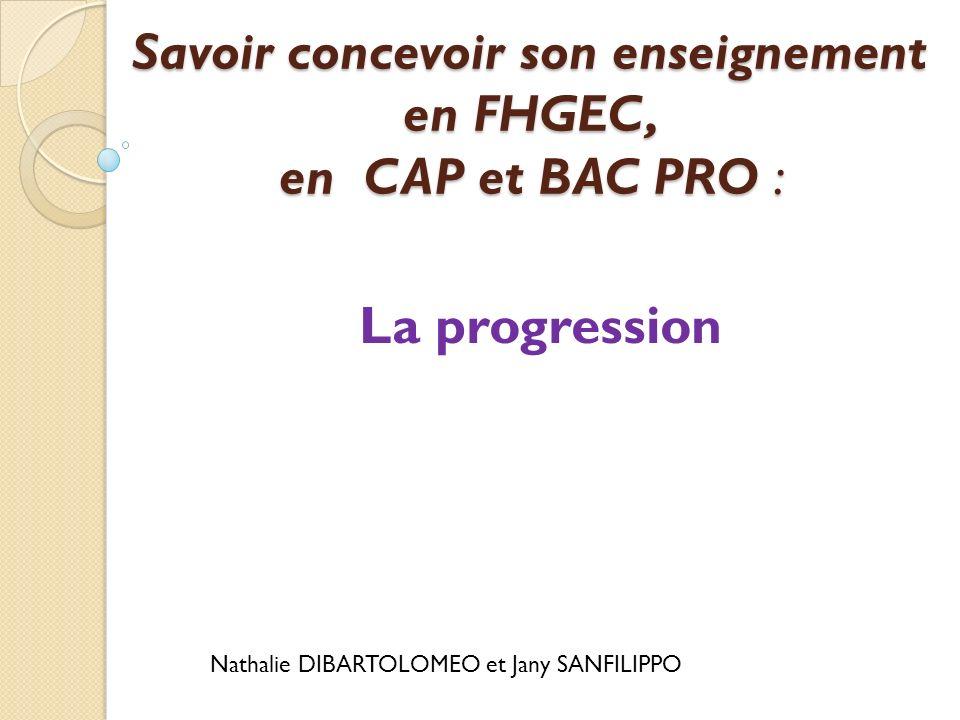 Progression de français CAP Métiers de lhôtellerie et de la restauration 2 ème année CAP