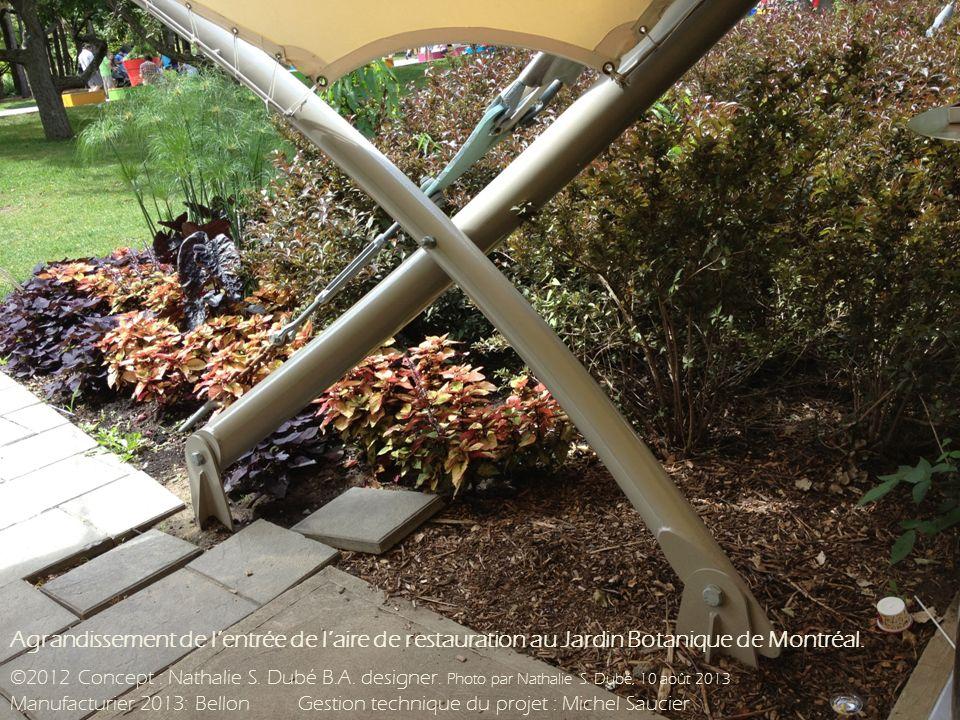 Agrandissement de lentrée de laire de restauration au Jardin Botanique de Montréal.