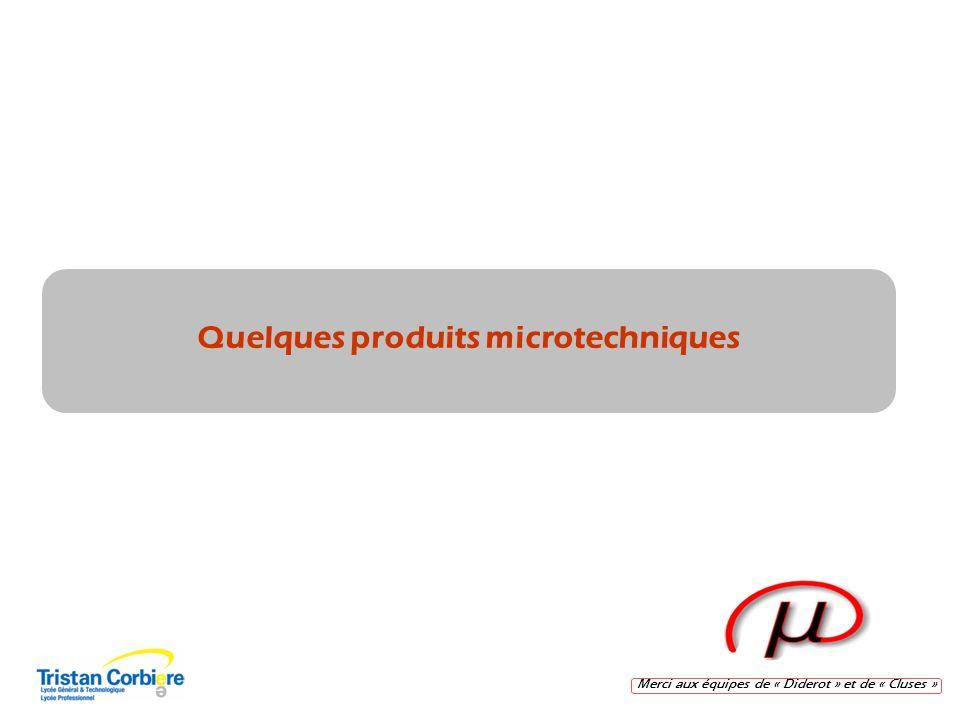 Merci aux équipes de « Diderot » et de « Cluses » Quelques produits microtechniques