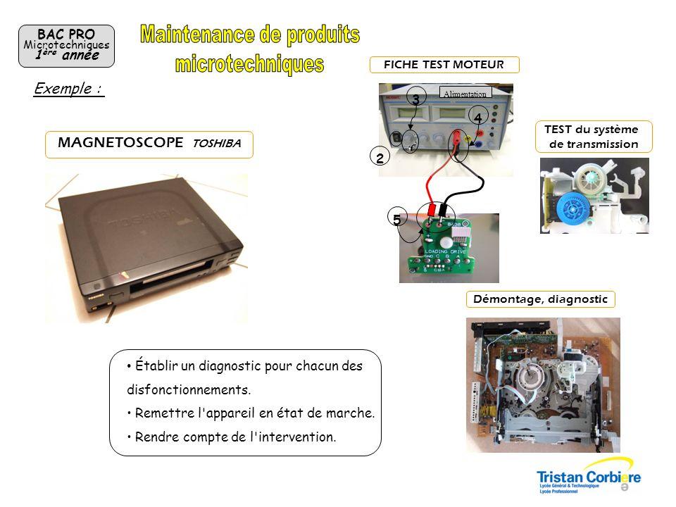 BAC PRO Microtechniques 2 ème année Projets en cours