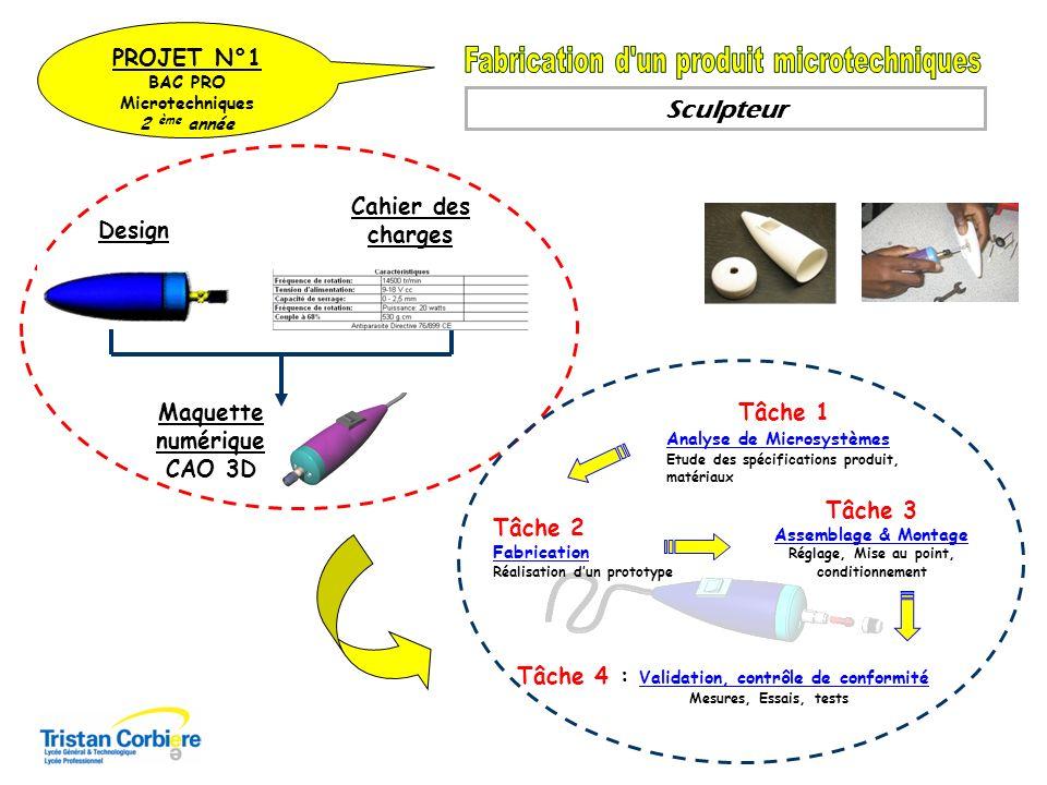 Lampe Chargeur Fabrication unitaire Des différentes pièces Intégration Test Assemblage du sous Ensemble On Demande On Donne Re-conception du sous ensemble Chargeur Etude de l existant Modèle CAO PROJET N°2 BAC PRO Microtechniques 2 ème année