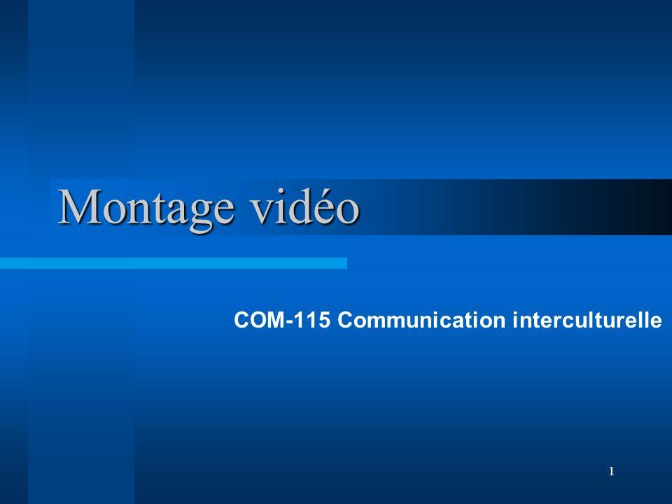 1 Montage vidéo COM-115 Communication interculturelle