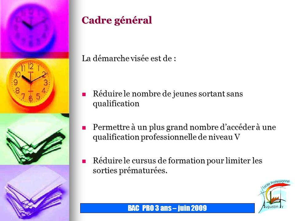 BAC PRO 3 ANS Sommaire Élèves Affectation Organisation de la formation Accès à la certification
