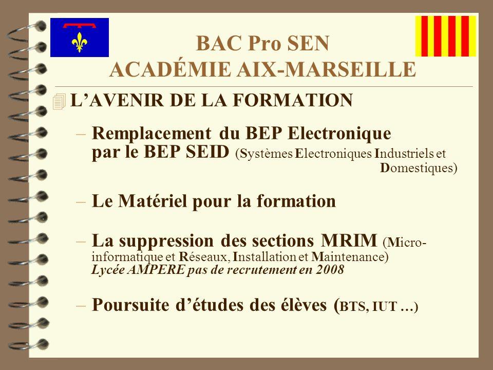 4 LAVENIR DE LA FORMATION –Remplacement du BEP Electronique par le BEP SEID (Systèmes Electroniques Industriels et Domestiques) –Le Matériel pour la f