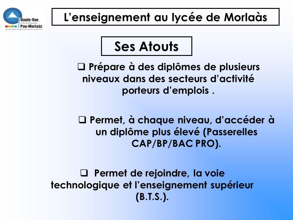 Une formation, un métier, un emploi Lycée des Métiers du Goût et des Soins et Services à la Personne