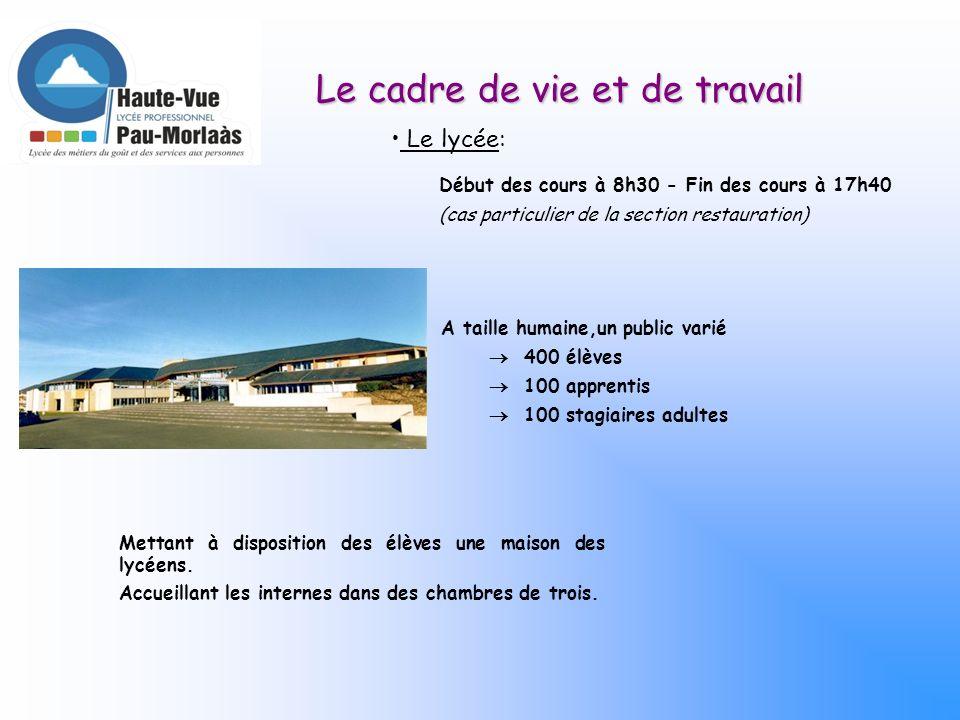 BAC PRO 3 ans Boucher Charcutier-Traiteur Activités : Préparations fines en charcuterie, pâtisserie, boulangerie, boucherie et poissonnerie.