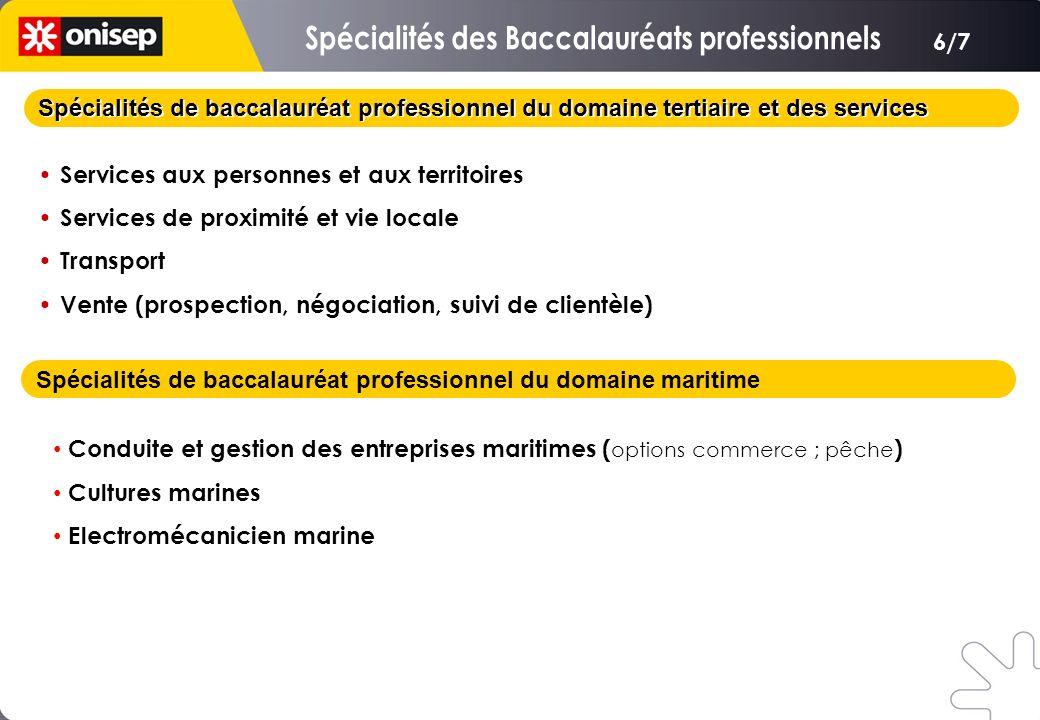Spécialités de baccalauréat professionnel du domaine tertiaire et des services Services aux personnes et aux territoires Services de proximité et vie