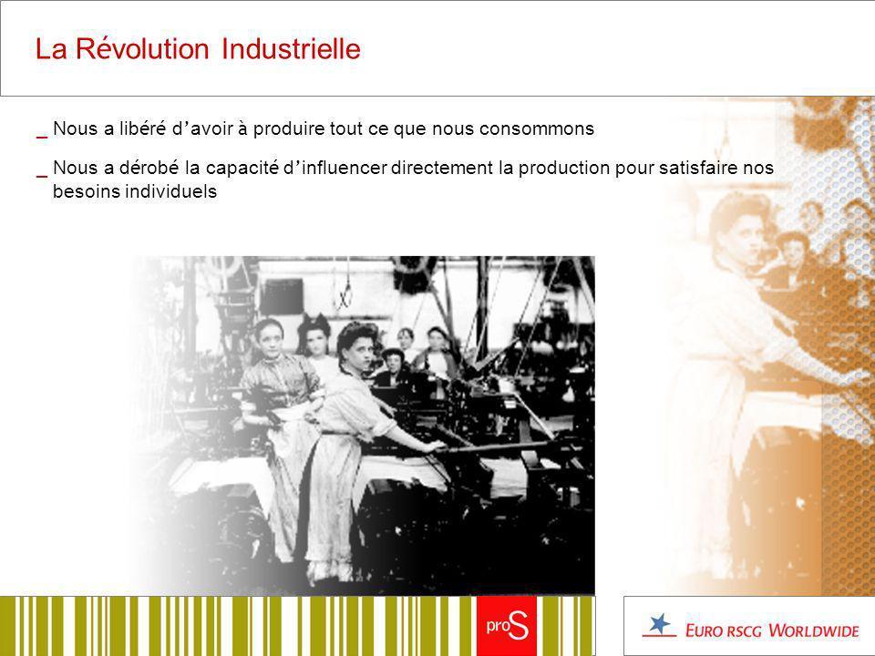 La R é volution Industrielle _ Nous a lib é r é d avoir à produire tout ce que nous consommons _ Nous a d é rob é la capacit é d influencer directement la production pour satisfaire nos besoins individuels