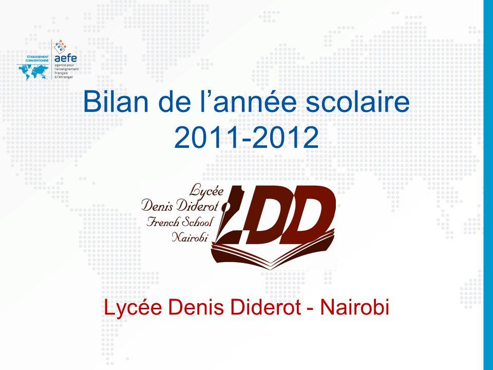 Bilan de lannée scolaire 2011-2012 Lycée Denis Diderot - Nairobi