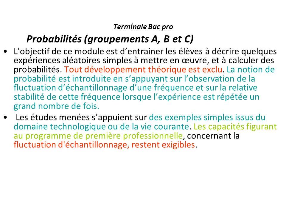 CapacitésConnaissancesCommentaires Passer du langage probabiliste au Langage courant et réciproquement.