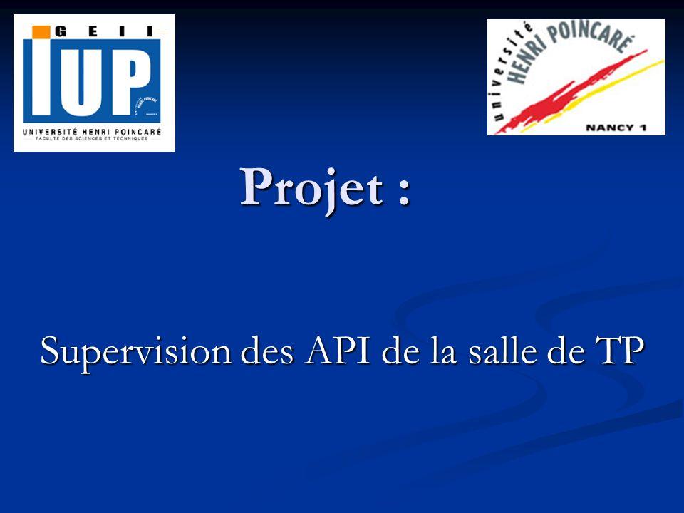 Projet : Supervision des API de la salle de TP