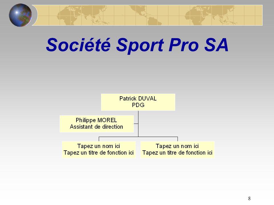 8 Société Sport Pro SA