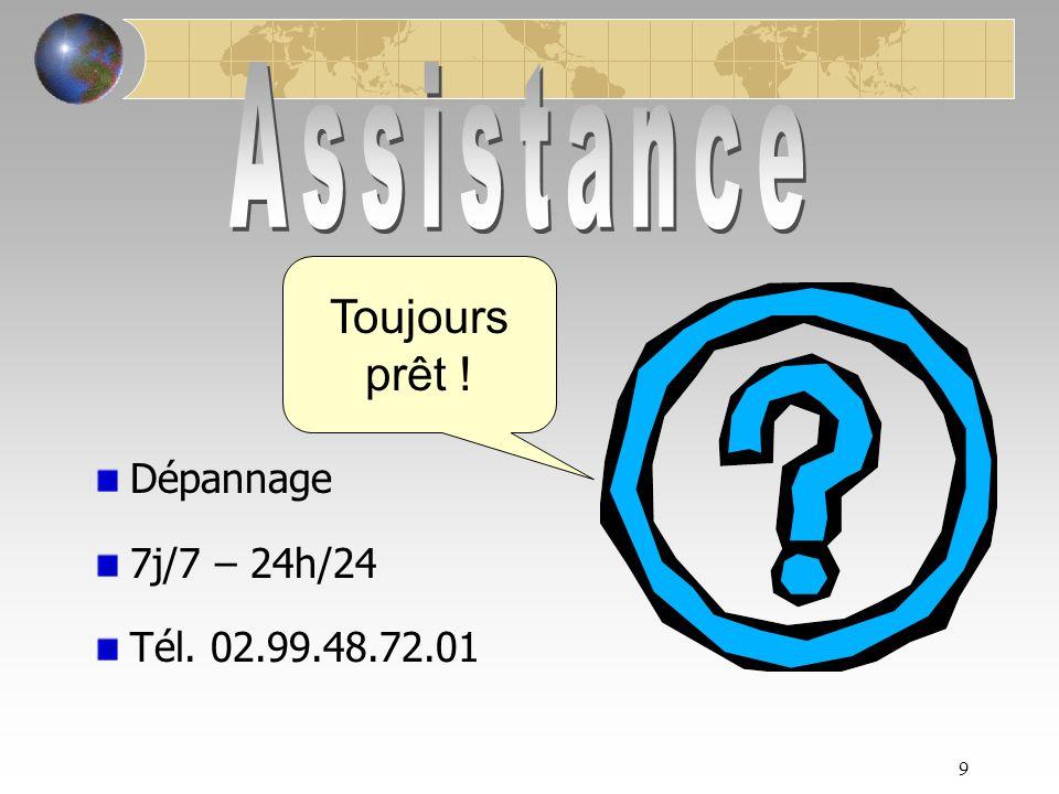 9 Dépannage 7j/7 – 24h/24 Tél. 02.99.48.72.01 Toujours prêt !