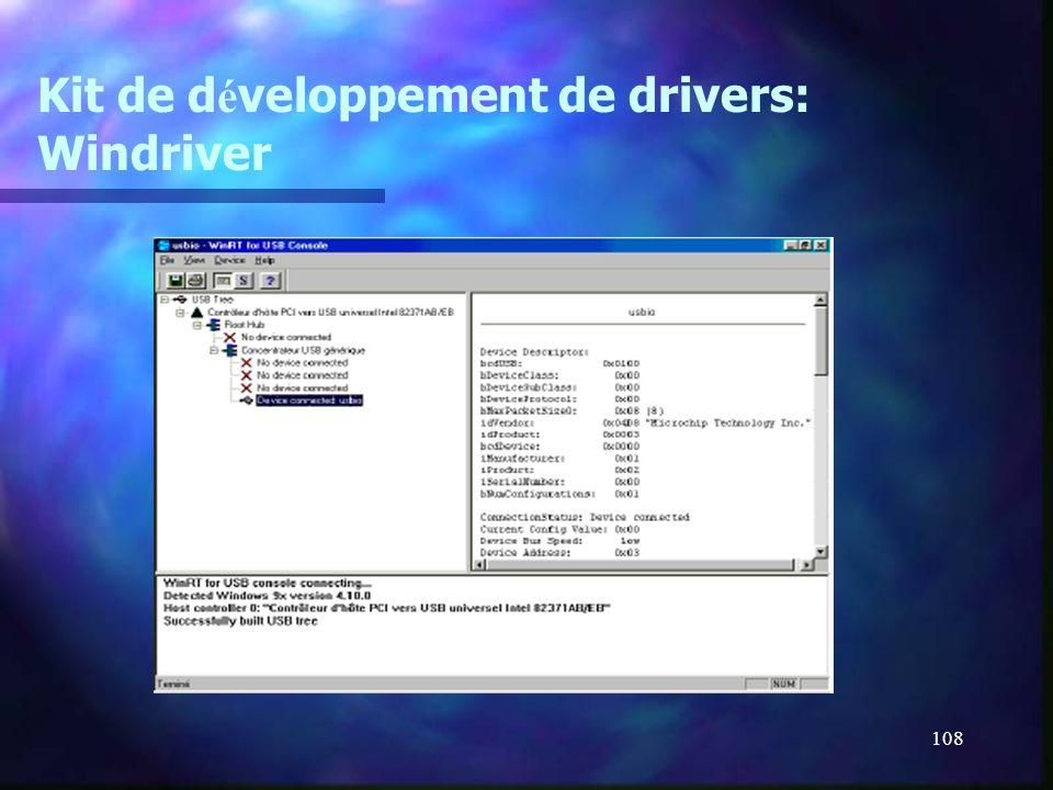 108 Kit de d é veloppement de drivers: Windriver