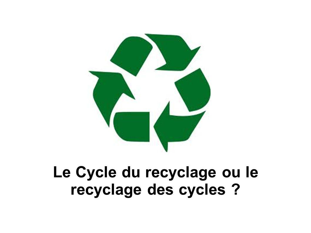 Le Cycle du recyclage ou le recyclage des cycles