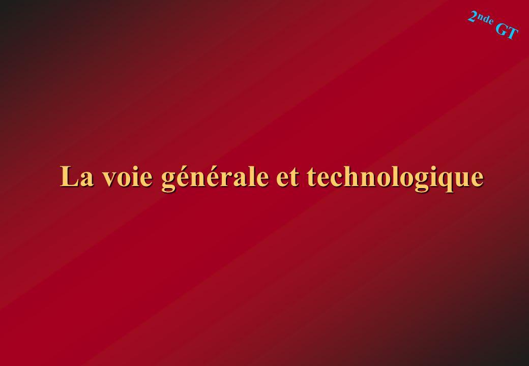 La voie générale et technologique 2 nde GT