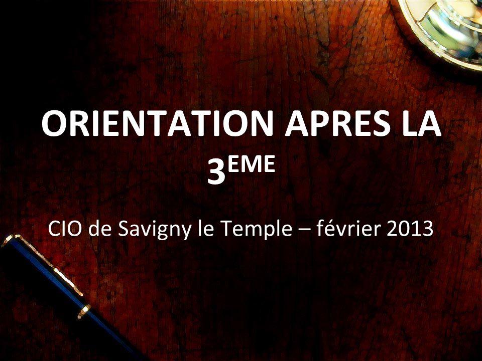 ORIENTATION APRES LA 3 EME CIO de Savigny le Temple – février 2013